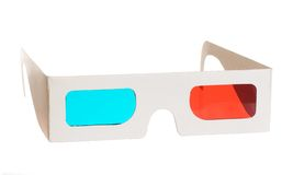 3d glasses. Isolated on the white background royalty free stock images