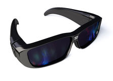 3D Glasses. Black 3D Glasses on white. With clipping path vector illustration