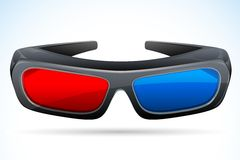 3d Glasses. Vector illustration of 3d glasses against abstract background Royalty Free Stock Photography
