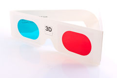 3d glasses. A pair of 3d glasses Stock Photos