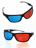 3d glasses. 3d blue-red glasses on white background stock photography