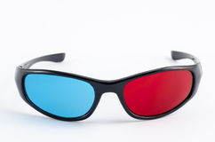 3d glasses. On white background royalty free stock photography