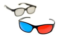 3D glasses Stock Images
