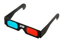 3d Glasses. Black 3d eyeglasses isolated on white background stock photography