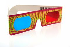 3D glasses. In the white background Royalty Free Stock Photography