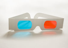 3D glasses. A set of 3-D glasses isolated on a white background Royalty Free Stock Photos