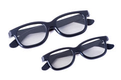 3D glasses adults and children. On a white background isolated Stock Photography