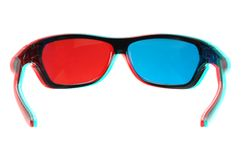 3d glasses back in 3d Royalty Free Stock Images