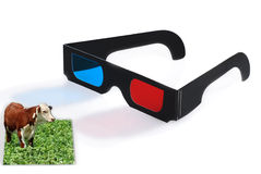 3D glasses effect concept Royalty Free Stock Photos