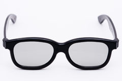 3D Glasses front. 3D Glasses used in the theater based on the polarization principle Royalty Free Stock Photos