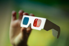 3D Glasses in hand Stock Photography