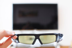 3d-glasses in the hand Royalty Free Stock Image