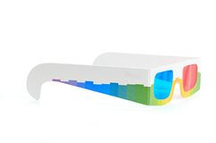 3d glasses isolated over white Royalty Free Stock Photo