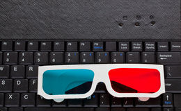 3d glasses on laptop Royalty Free Stock Photos