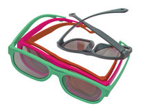 3D glasses modern cinema vision Royalty Free Stock Image