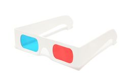 3D-glasses no fundo branco Fotos de Stock Royalty Free