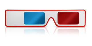 3d glasses with reflect Royalty Free Stock Image
