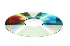 3D glasses reflected in DVD Royalty Free Stock Photo