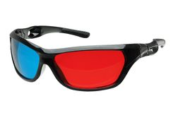3d glasses side Royalty Free Stock Photography