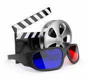3D glasses of stereoscopic cinema. Icon. Isolated on white background Royalty Free Stock Image