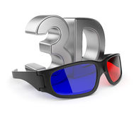 3D glasses of stereoscopic cinema. Isolated Royalty Free Stock Photo