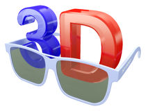 3d glasses for three-dimensional video Stock Photos