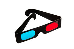 3D glasses on white. 3D movie glasses on white background royalty free stock photography