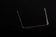 3D Glazen op een zwarte achtergrond Royalty-vrije Stock Afbeelding
