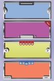 3d glidarevektor för titelrad ii Arkivbild