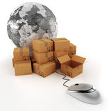 3d global business commerce concept Royalty Free Stock Photography