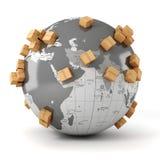 3d global business commerce concept Stock Photos