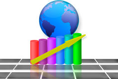 3d Global Market Growth Royalty Free Stock Photography