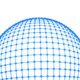 3d global network concept. 3d blue global network concept Royalty Free Stock Photography