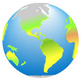 3d global planet Earth america icon Royalty Free Stock Image