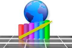 3d Globale Groei van de Markt Royalty-vrije Stock Fotografie
