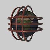 3d globalizacja Fotografia Royalty Free