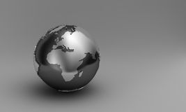 3D globe. Globe showing Europe and Africa over gradient background Stock Photography
