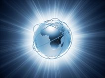 3d globe Royalty Free Stock Photography