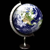 3D Globe. / Earth showing North America vector illustration