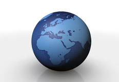 3d globe Royalty Free Stock Photography