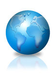3d globe. In blue color Royalty Free Stock Photos