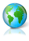3d globe. With green and blue color Stock Images