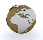 3D globe Royalty Free Stock Photos