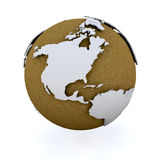 3D globe. 3D render of a globe Royalty Free Stock Images