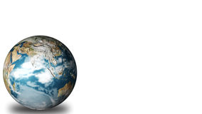 3D Globe. Isolated against white Stock Photos