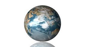 3D Globe. Isolated against White with great detail Royalty Free Stock Image
