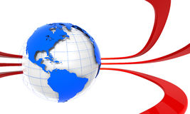 3D Globe Americas Royalty Free Stock Photography