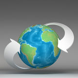 3d globe connections network. Design Stock Photos