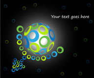 3d globe design. With circles Stock Photography