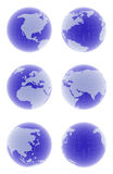 3d globe set Stock Photography